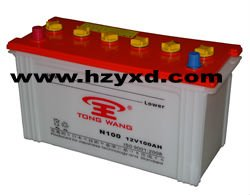 dry charged lead acid battery N100 dry cell dry car battery storage battery