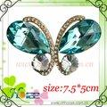 forma de mariposa de cristal de la moda decoraciones de zapatos con piedras de cristal