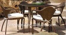 2015 Hot sale unique pe rattan restaurant used dining chairs
