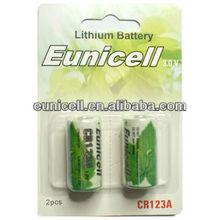 Cr123a battery 3 volt lithium battery UL123A CR123