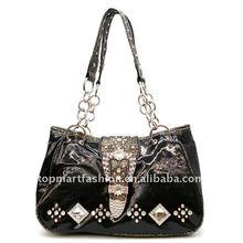 2012 newest fashion lady handbag in paint black
