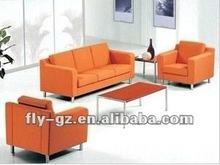 drawing room sofa set/orange leather sofa/leather recliner sofa