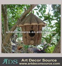 Environmental decorative wooden bird house