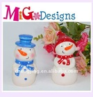 wholesale decor gift Christmas Snowman Salt Pepper Shakers