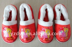 fashion bedroom velour TPR Cartoon shoes for kids