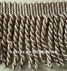 9CM Polyester Tassel Bullion Fringe , Brush fringe For Curtain