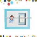 bebé de alta calidad kit de huella de la mano en la imagen de la pared marco