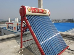 2014 Newly designed popular 150Liters non pressure evacuated tube solar heating for India