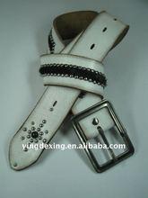 Leather belt, fashion belt, 2012 custom design,D17E