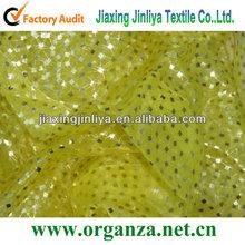Bright sequin organza fabric for decoration