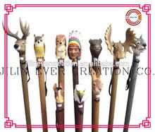 wooden cane walking stick