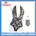Chaude!! Vente en gros femmes corset noir lingerie sexy teddy