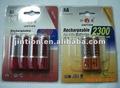 Jintion commerciaux. rechargeable nimh& nicd batterie avec l'emballage blister