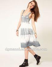 2012 new design spaghetti strap maxi dress