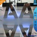 Rétroéclairé led métal petites lettres de l'alphabet, shop logo lettres de l'alphabet décoratif