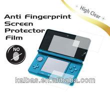 High Clear Anti Fingerprint Japan PET Screen Protector film for 3DS LL XL