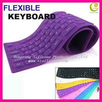 2013 Hot Selling!!Standard 109 Keys Washable&Durable & Foldable Wholesales Silicon Flexible USB Bluetooth Wireless keyboard