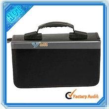 Decorative Black 200 Capacity PU Storage Set DVD Box (13007025)