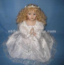 cabelo loiro de fadas bonecas de porcelana boneca de cerâmica
