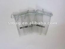 Silk organza bags with ribbon drawstring