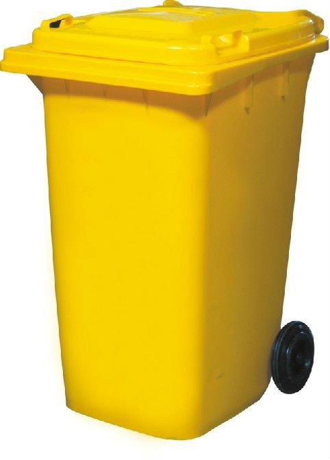 Contenedor de plástico contenedor de basura 240 litros con 2 ruedas