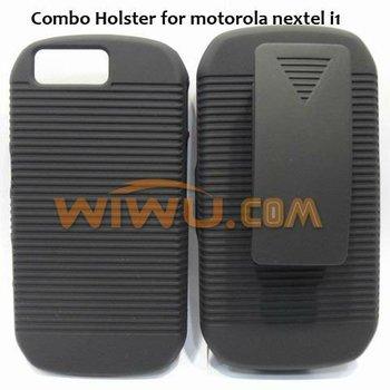 Anti-slippery shell combo holster case for motorola nextel i1