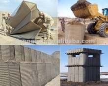 Military Hesco Bastion for security usage by stone and sand filled