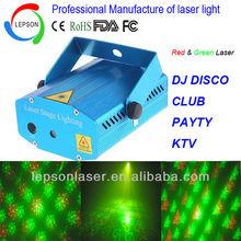 4 patterns red green mini laser light show