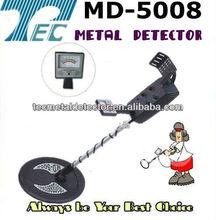 Profondo terra metal detector oro metal detector terreno di ricerca del metal detector md-5008 con grandi e piccole bobine