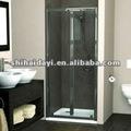 plástico dobrável vidro temperado porta do chuveiro
