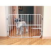 Carlson metal folding expandable pet dog gate with doors pet gate