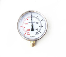 vacuum pressure gauge with bottom connection