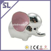 Custom Logo Pink Big Ear Elephant Metal Money Box Footboll Money Box China supply