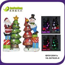 LED resin santa&snowman christmas craft