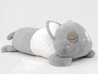 OEM ICTI eco-friendly soft plush baby toy stuffed cat pillow animal cushion