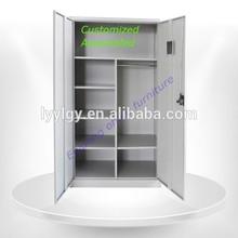 2015 steel office furniture 2 door metal file and clothes storage cupboard