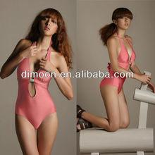 Silvery Ringed 2014 Neck Halter swimsuit sex monokini