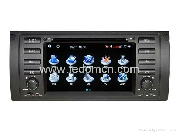 En el tablero de coches reproductor de dvd para entretenimiento multimedia para bmw 5 series e39/x5 e53/m5