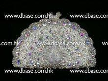 8105 Peacock Crystal Lady fashion metal Bridal Wedding hard clutch bag Evening purse handbag case