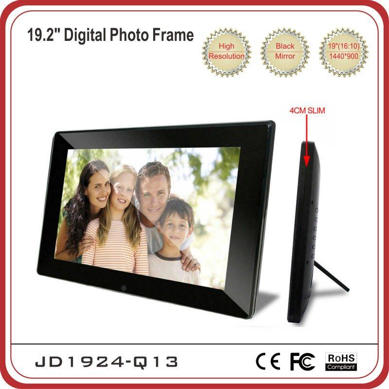 "Large design 19"" Digital Photo Frame with 16:10 panel"