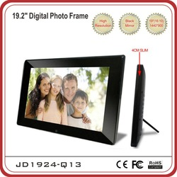 Large design 19&quot; Digital Photo Frame with 16:10 panel