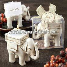 Prezzo di fabbrica tag personalizzato tè titolare luce/bomboniere elefante supporto di candela