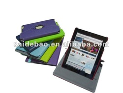 Genuine leather ipad cases with elastic closure,high quality Pu leather case cover for ipad ipad air,for ipad case