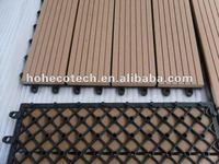 Interlocking deck tile DIY wpc decking 300x300mm wood plastic composite decking/flooring tiles