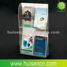 Hot!!!!! wall mount clear acrylic brochure holders