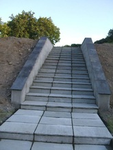 Chinese superior unique honed blue limestone steps with ISO certificate for Europe