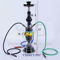 Three hoses rotary hookah shisha