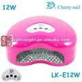 Lâmpada uv para o prego seco lk-e12w led de unhas de gel que cura a lâmpada 12w