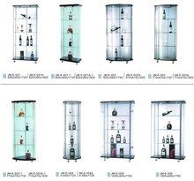 modern corner glass display cabinets
