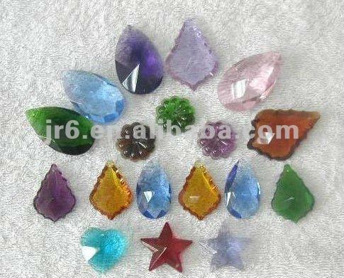 Küçük kristal top boncuklar ve kristal cam centerpieces, yaprak